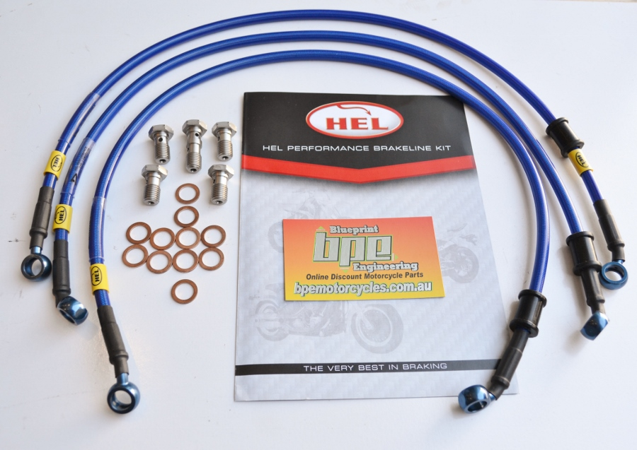 Yamaha YZF-R1 2009-2011 HEL Front And Rear Brake Hose Kit